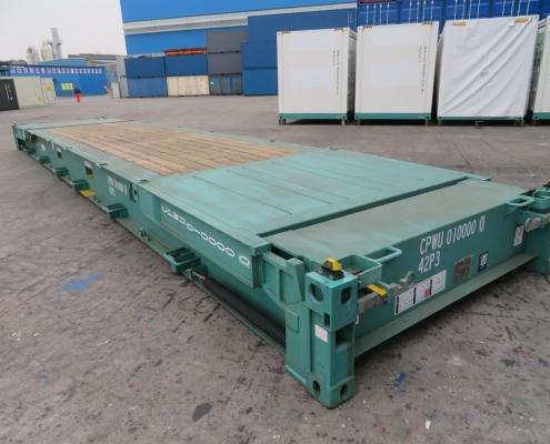 conteneur 40 pieds support plat
