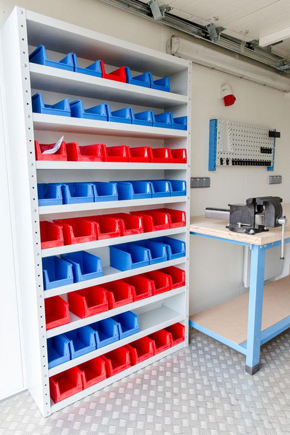 aménagement container atelier btp