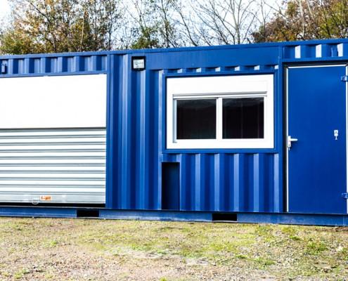 Transformation et am nagement de conteneur atelier btp for Isolation container maritime