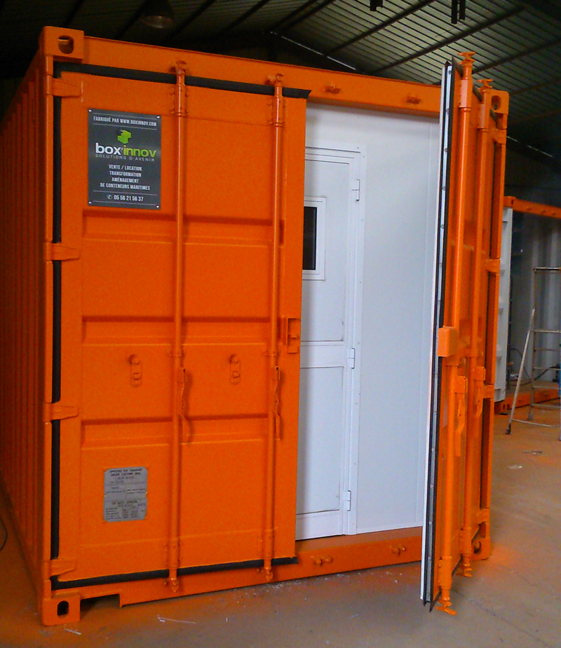 Un container rayonnage stockage s curis pour les pros for Porte conteneur