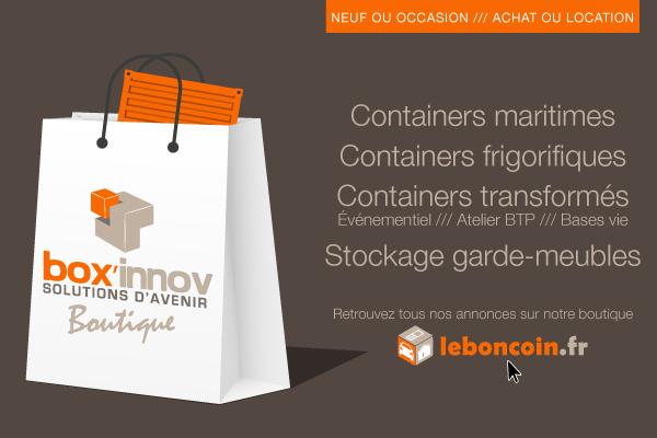 Box'innov, vente achat location de container occasion on