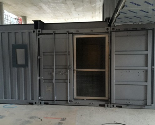 container porte grillagee
