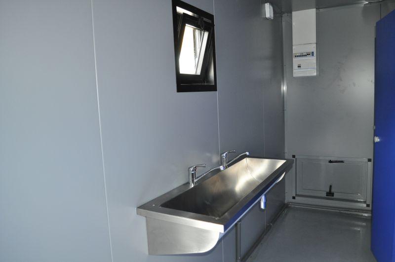 conteneur lavabo inox