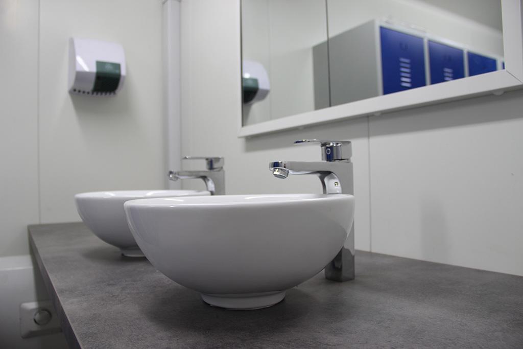 conteneur lavabos
