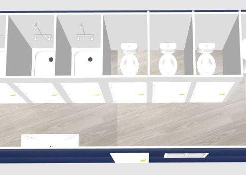 aménagement de container maritime sanitaire