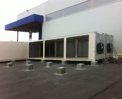 conteneur frigorifique assemble