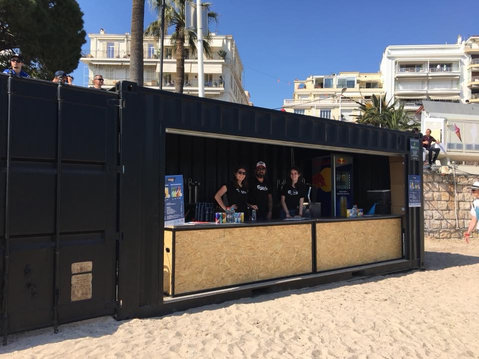 container plage