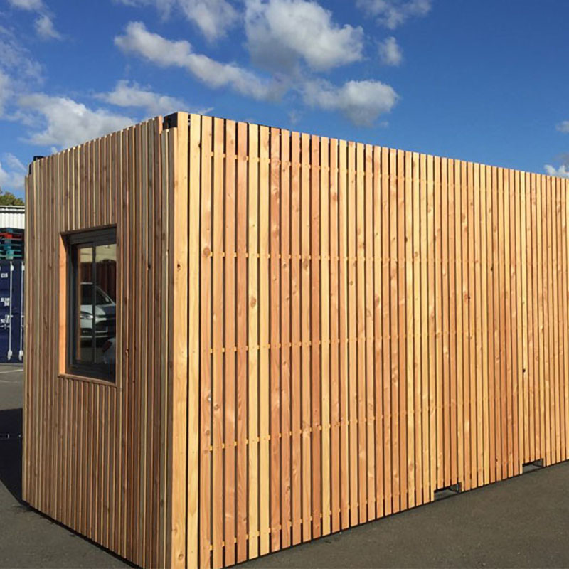 cabine d'appoint bardage bois