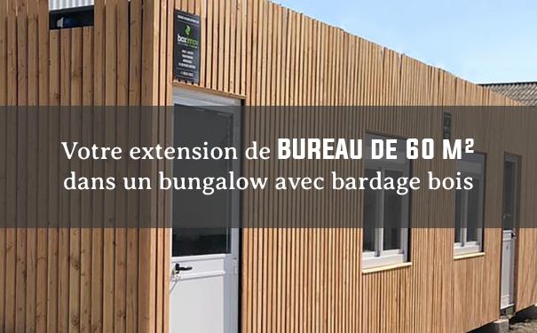 Votre bâtiment modulaire de 60 m² avec bardage bois