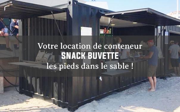 Votre location de conteneur de buvette et snack