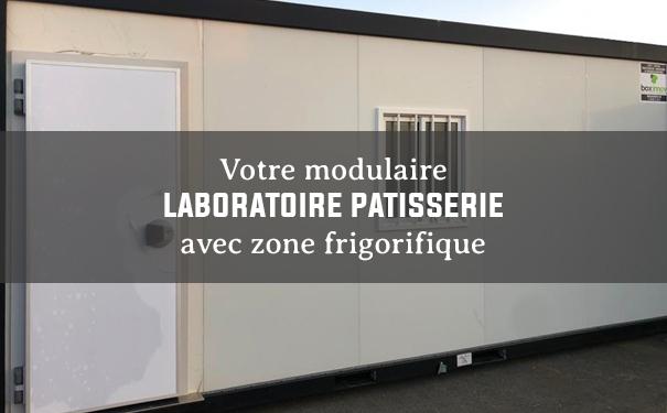 Module laboratoire de pâtisserie avec zone frigorifique