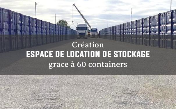 Espace de location en container de stockage