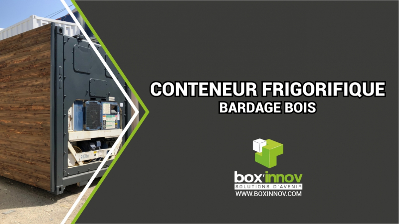 MIN container reefer bardage bois