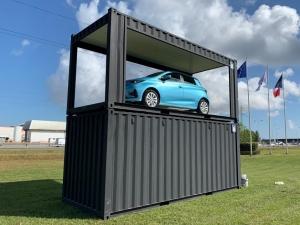 conteneur podium véhicule