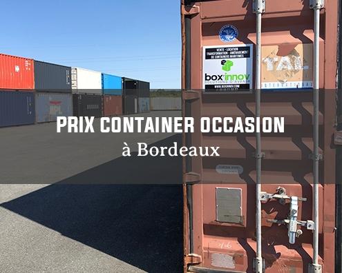 prix container occasion dépôt bordeaux boxinnov