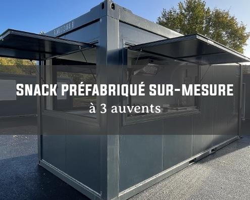 Snack préfabriqué sur-mesure bungalow modulaire