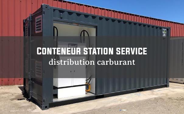 Conteneur station carburant