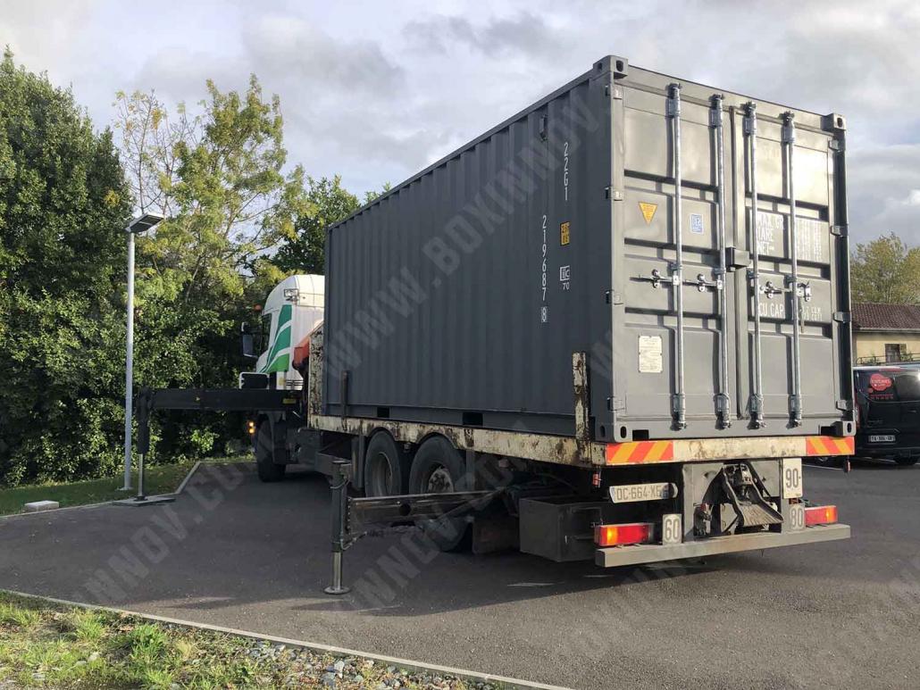 Livraison d'un container stockage 20 pieds