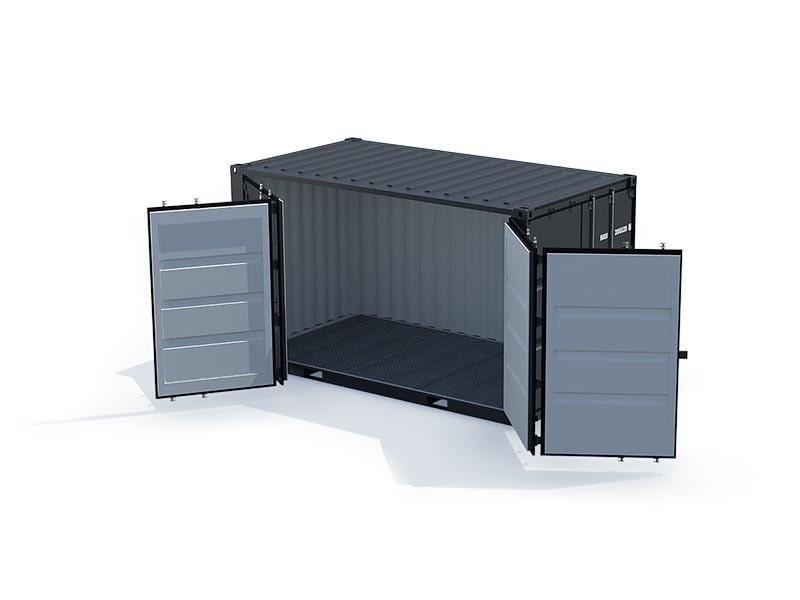 conteneur 15 pieds ouverture latérale