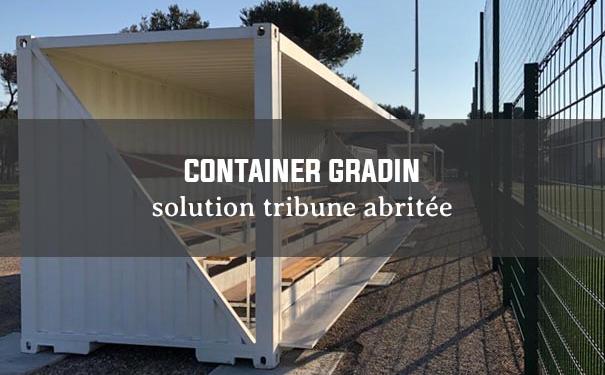 Container gradin