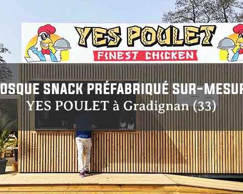 kiosque snack préfabriqué modulaire bois